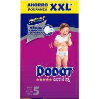 Box XXL Pañal 11-16 kg Talla 5 DODOT Activity, caja 126 uds.