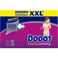 Pañal 11-16 kg Talla 5 Box XXL DODOT Activity, caja 126 uds