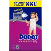 Box XXL Pañal +13 kg Talla 6 DODOT Activity, caja 117 uds.