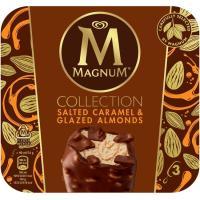 Helado salted caramelo MAGNUM, 3 uds., caja 222 g