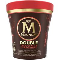 Helado pint double de chocolate-fresa MAGNUM, tarrina 310 g