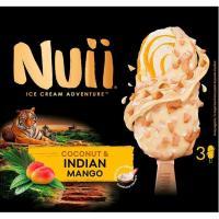 Helado de bombón-coco-mango NUII, 3 uds., caja 214 g