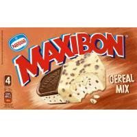 Helado sandwich-cereal mix MAXIBON, 4 uds., caja 380 g