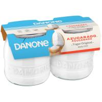 Yogur original natural azucarado DANONE, pack 2x135 g