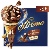 Cono 3 chocolates EXTREME, 6 uds., caja 432 g