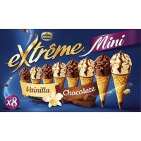 Mini cono surtido EXTREME, 4 uds., caja 312 g