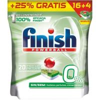 Lavavajillas eco 0% FINISH, bolsa 16+04 dosis