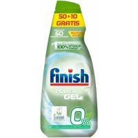 Lavavajillas gel eco 0% FINISH, botella 50+10 dosis