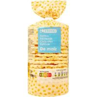 Tortita de maíz EROSKI, paquete 130 g