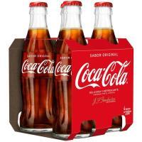 Refresco de cola COCA COLA, pack 4x20 cl