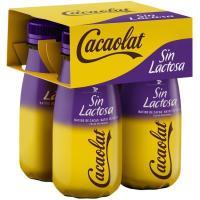 Batido de cacao sin lactosa CACAOLAT, brick 4x200 ml