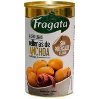 Aceitunas rellenas anchoa sin potenc. sabor FRAGATA, lata 150 g