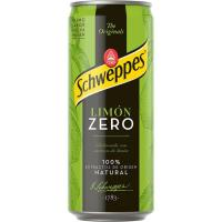Refresco de limón sin azúcar SCHWEPPES Zero, lata 33 cl