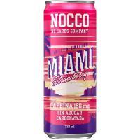 Bebida deportiva con BCAA NOCCO MIAMI, lata 33 cl