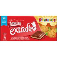 Chocolate extrafino con galleta dinosaurus NESTLÉ, tableta 120 g