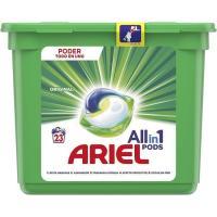 Detergente en cápsulas 3en1 ARIEL, caja 23 dosis