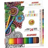 Lápices premium de colores surtidos Color Experience ALPINO, Caja 24 uds