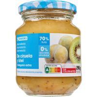 Mermelada de ciruela-kiwi diet EROSKI, frasco 290 g