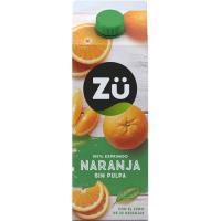 Zumo de naranja exprimida sin pulpa ZÜ, brik 1,75 litros