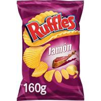 Patatas onduladas Ruffles sabor jamón MATUTANO, bolsa 160 g