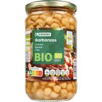 Garbanzo cocido bio EROSKI, frasco 400 g