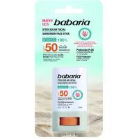 Stick solar facial zonas sensibles SPF50 BABARIA, stick 20 g