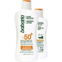 Leche solar sensible SPF50+After BABARIA, pack 1 ud