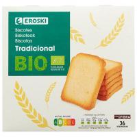 Biscotte tradicional EROSKI BIO, caja 300 g