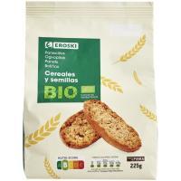 Panecillo de cereales-semillas EROSKI BIO, paquete 225 g