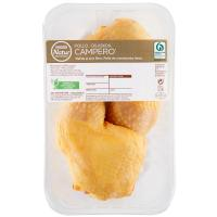 Muslos de pollo campero EROSKI Natur, bandeja aprox. 400 g