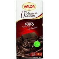 Chocolate puro sin azúcar VALOR, tableta 100 g