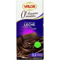 Chocolate con leche sin azúcar VALOR, tableta 100 g