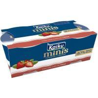 Yogur mini griego ligero de fresa KAIKU, pack 2x90 g