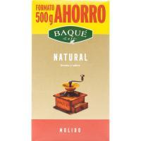 Café molido natural BAQUE, paquete 500 g