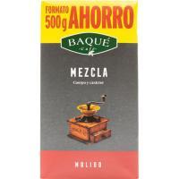 Café molido mezcla BAQUE, paquete 500 g