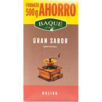 Café molido gran sabor BAQUE, paquete 500 g