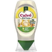 Salsa de ajo suave CALVE, bocabajo 250 ml