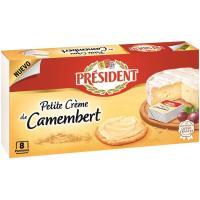 Petite creme cammenbert PRESIDENT, 8 porciones, caja 133 g