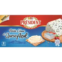 Petite creme queso azul PRESIDENT, 8 porciones, caja 133 g
