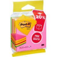 Notas adhesivas en cubo 76x76mm,325 hojas + 20%  gratis de 5 colores POST-IT, 1 ud
