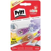 Cinta correctora 6mx5mm Micro Roller Duo PRITT, Pack 2 uds