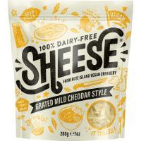 Rallado vegano tipo cheddar SHEESE, bolsa 200 g