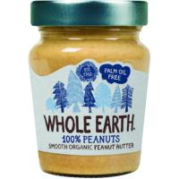 Crema de cacahuete bio WHOLE EARTH, frasco 227 g