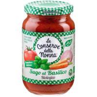 Salsa basilico bio CONSERVA DE LA NONA, frasco 350 g