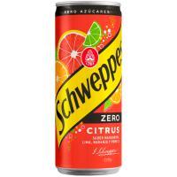 Refresco cítrico con gas zero SCHWEPPES, lata 33 cl