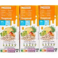 Zumo de avena tropical EROSKI, pack 3x200 ml