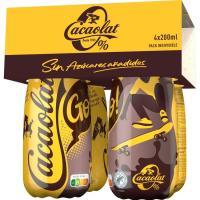 Batido cacao 0% CACAOLAT, pack botellín 4x200 ml