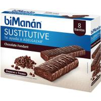 Barritas de chocolate negro fondant BIMANAN, caja 10 uds.