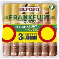 Salchichas Franfurt con queso EL POZO, pack 4x140 g
