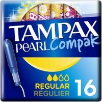 Tampón regular TAMPAX Compak Pearl, caja 16 uds.